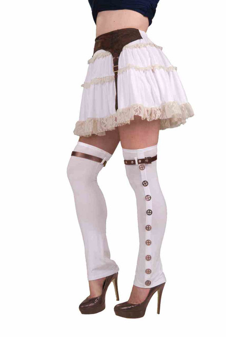 steampunk thigh high boot tops the costume shoppe