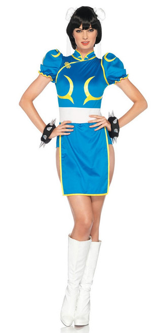 Anime Chun Li Street Fighter Ladies Costume