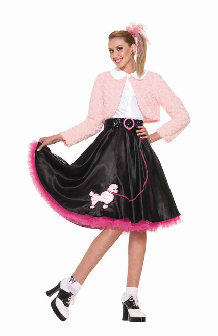 50s Rock and Roll Poodle Skirt Costume Set