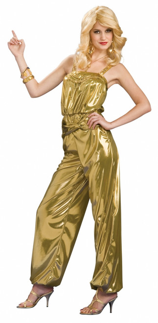 70s Gold Disco Diva Dancing Star Costume