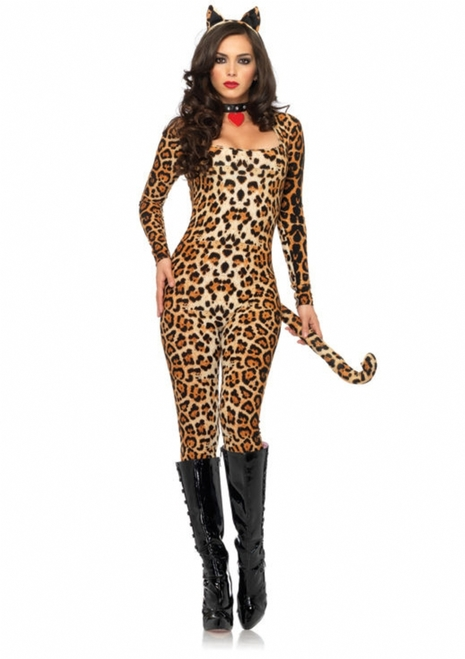 Sexy Ladies Cougar Catsuit Costume
