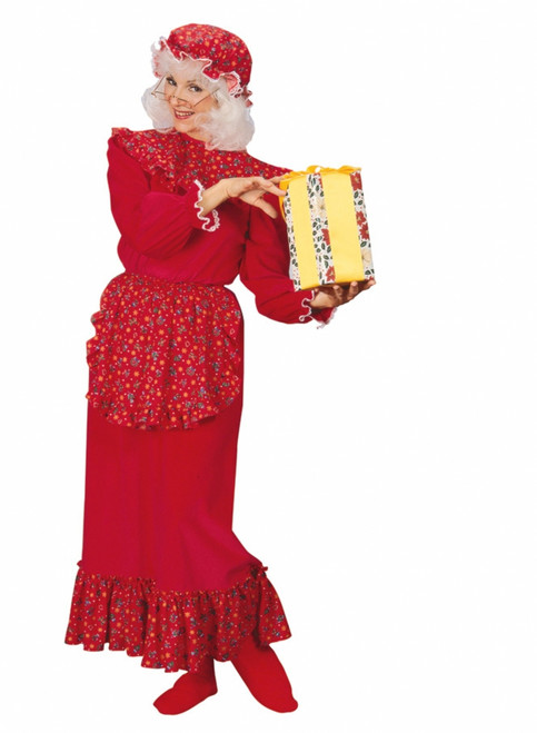 Traditional Mrs Claus Ruffle Costume The Costume Shoppe
