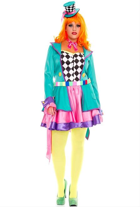 Hatter Hottie Plus Ladies Wonderland Costume