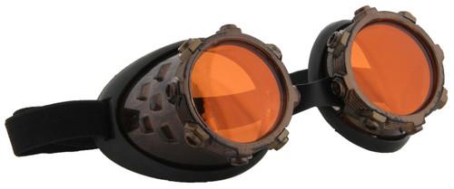 Cyber Stream Gold & Orange Goggles