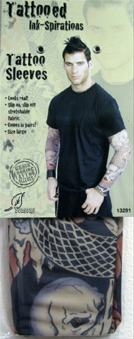Men's Snakes & Skulls Tattoo Sleeve
