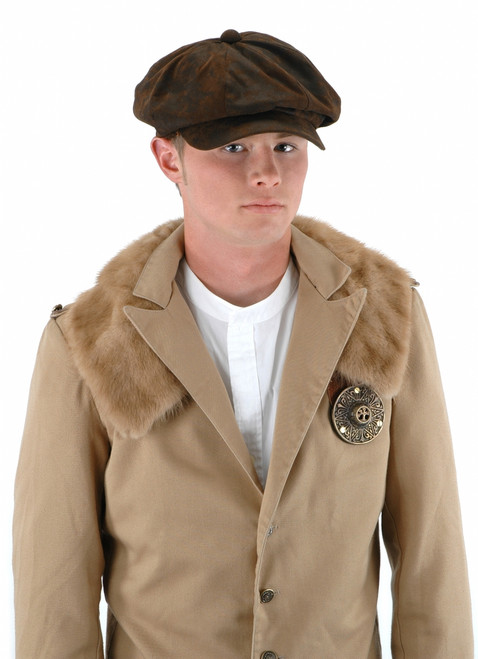 Steampunk Driver Brown Hat