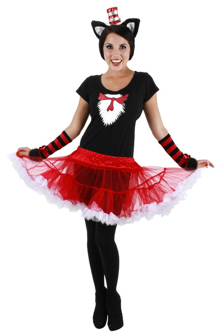Women's Cat in the Hat Adult TuTu Costume