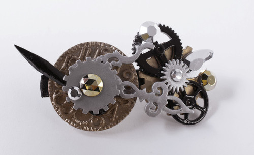 Steampunk Gear Barrette Hair Accessory