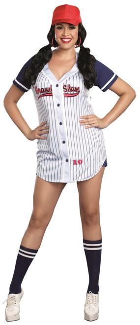 Ladies Plus Grand Slam Baseball Costume