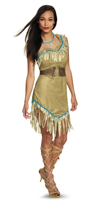 Ladies Plus Size Prestige Pocahontas Costume