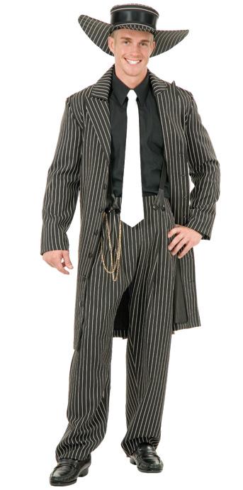 40s men s black gangster zoot suit costume the costume shoppe