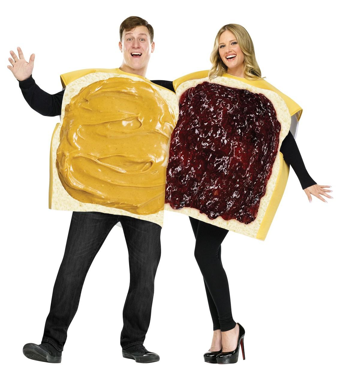 Peanut Butter u0026 Jelly Couples Halloween Costume  sc 1 st  The Costume Shoppe & Peanut Butter u0026 Jelly Couples Halloween Costume - The Costume Shoppe