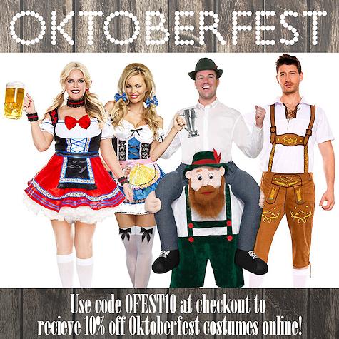 Oktoberfest Savings at The Costume Shoppe, Calgary Canada
