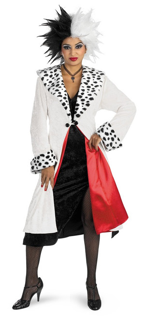 cruella de vil disney villain halloween costume the costume shoppe. Black Bedroom Furniture Sets. Home Design Ideas