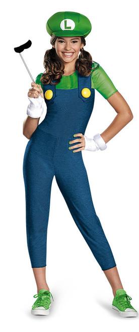 Luigi Girls Nintendo Hallowen Costume The Costume Shoppe