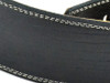 "2.5"" Black Iguana Leather Guitar 9trap w/ Creme Stitch"