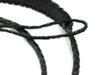 Black Braided Leather Mandolin Strap