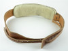 Vintage Brown Leather Banjo Strap: Cradle or Hook Style!