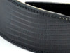 "2.5"" Black Iguana Stitch Leather Guitar Strap"
