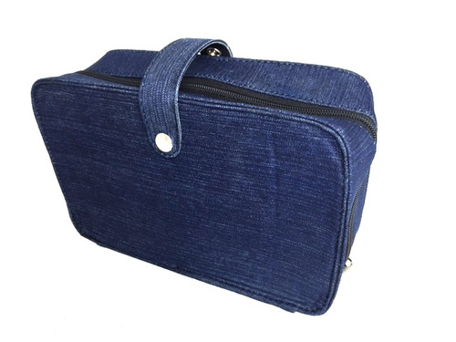 Canvas Harp Case - Blue Denim