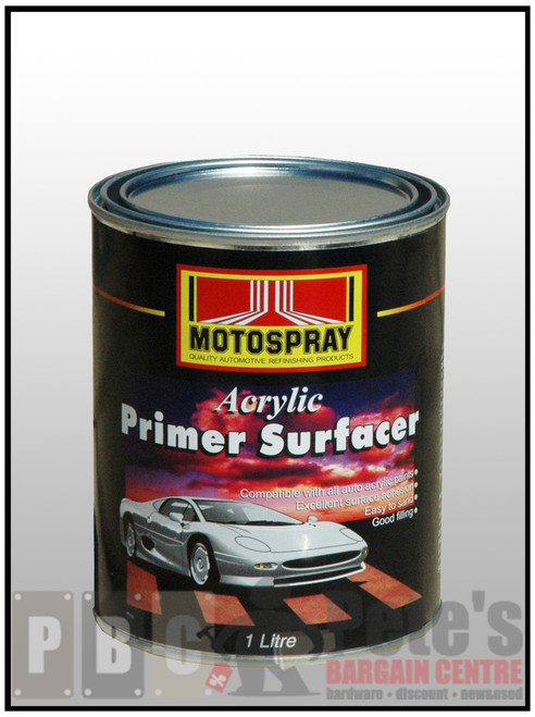 ACRYLIC PRIMER SURFACER  GREY 1 Litre Can