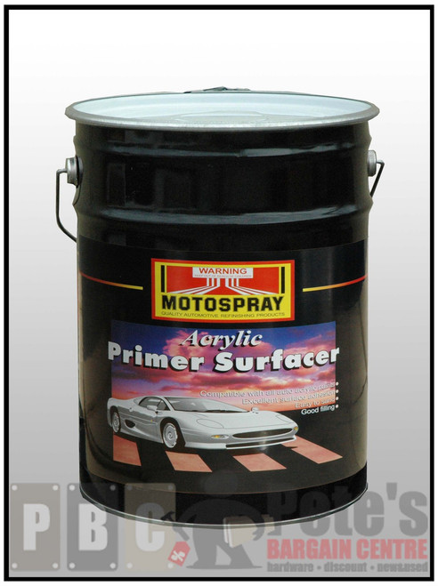ACRYLIC PRIMER SURFACER  GREY 20 Litre Can