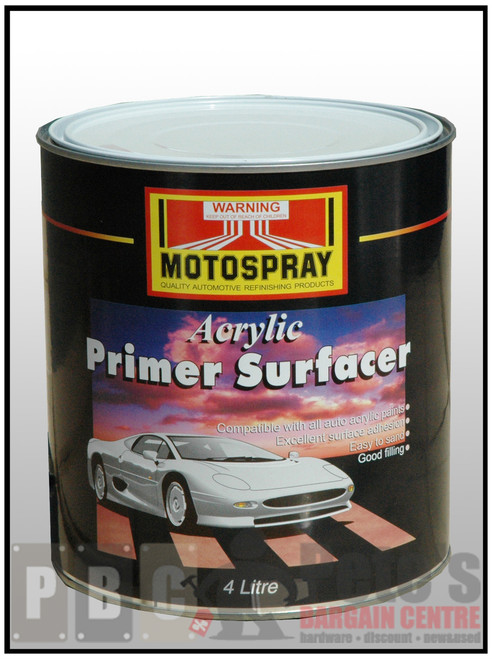 ACRYLIC PRIMER SURFACER  GREY 4 Litre Can