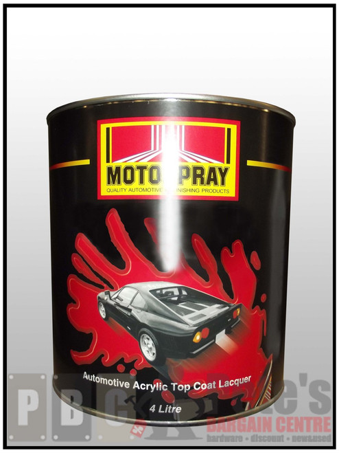 ACRYLIC FACTORY COLOURS  Monza Red 4 Litre Can