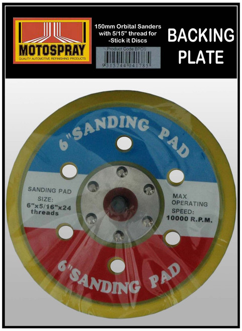 "BACKING PLATES For 150mm 5/16"" stick it Disc"