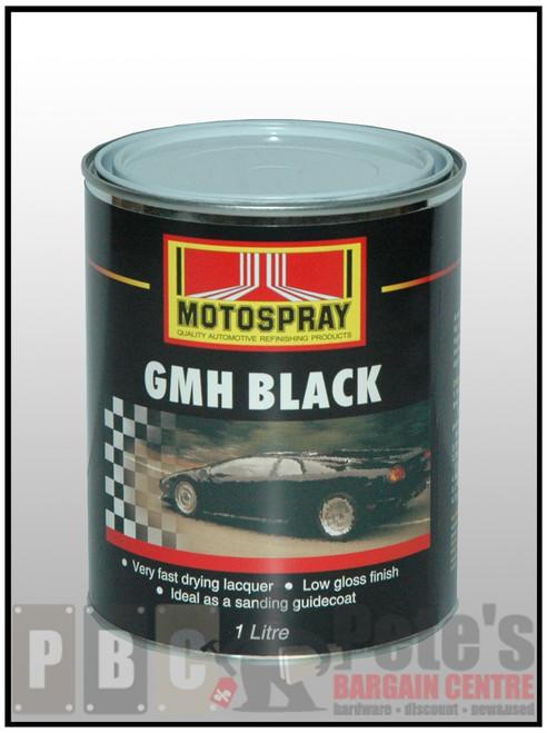 GMH FLAT BLACK 1 Litre Can   1 L