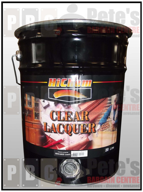 HIGUARD CLEAR LACQUER    100% 20 Litre Can