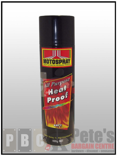 HEAT PROOF (AEROSOLS)    ***Aerosol ***    Flat Black