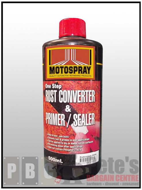 RUST CONVERTER & PRIMER SEALER  500ml Can