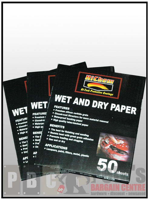 WET AND DRY PAPER (Waterproof)Pack Grade #120  Pack of 50