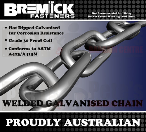 10.0mm Galvanised Chain Per Metre