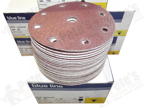 50 - 150 mm x 40 grit 1919 siawood 9 hole disc