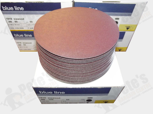 50 - 150 mm x 150 grit 1919 siawood No hole disc