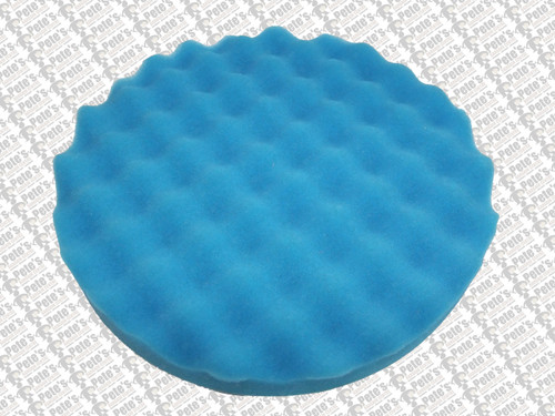 WAFFLE PADS - ( 200mm diameter velcro backed) BLUE  SUPER FINE