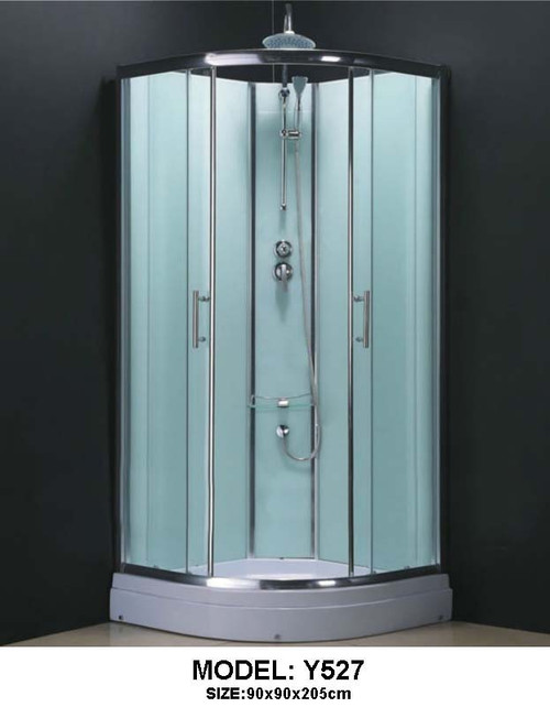 Complete Shower Cubicle  Curved 90x90 Jetless