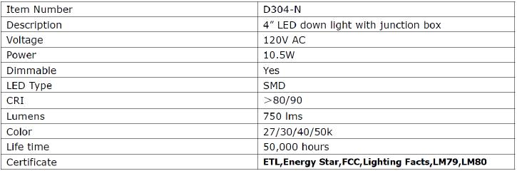 clark.6-inch.led.j-box.downlight.specs.d304-n-90-3000k.png