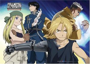 Fullmetal Alchemist Brotherhood Wallscroll - Group & Scar