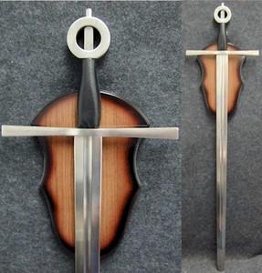 "Leather Medieval Irish Long Sword w/ Plaque 39.5"""
