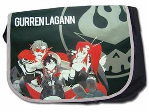 Gurren Lagann Messenger Bag - Group (Black)