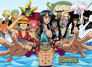 One Piece Wallscroll - Strawhats & CP9