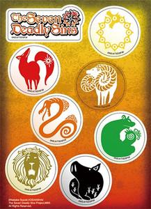 Seven Deadly Sins Sticker Sheet - Logo