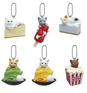Neko Figure Mascot Charm Collection Keychain (Random)