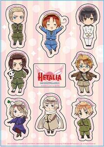 Hetalia Beautiful World Sticker Sheet - Group SD