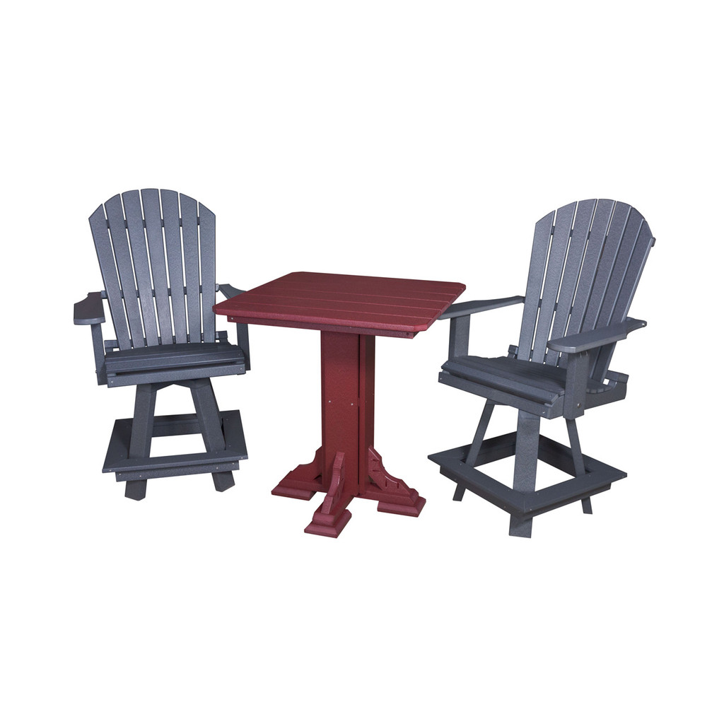 Adirondack High Bar Swivel Chair (Poly)