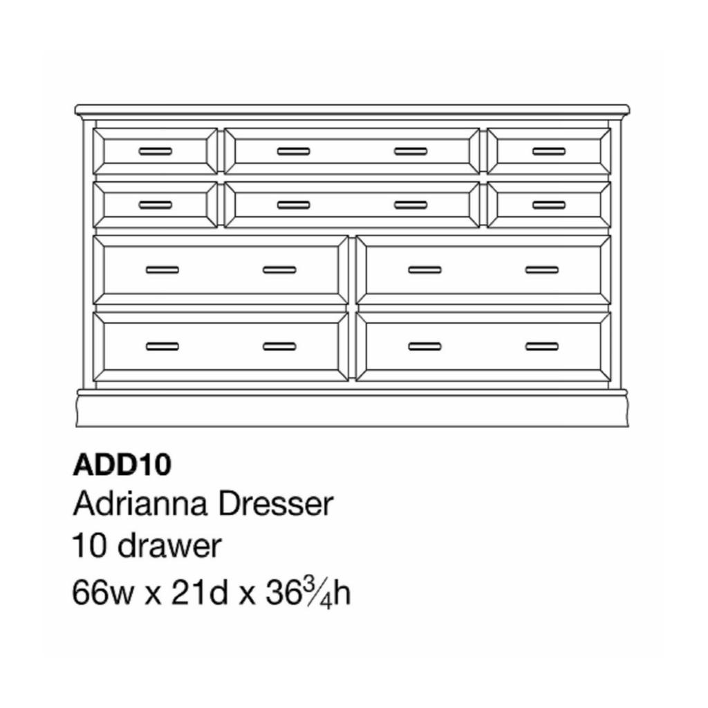 """Adrianna 66"""" Dresser"""