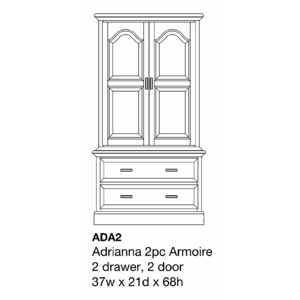 Adrianna Armoire Chest on Chest